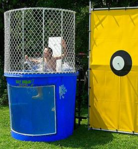 Dunk tank price 22500 3hrs